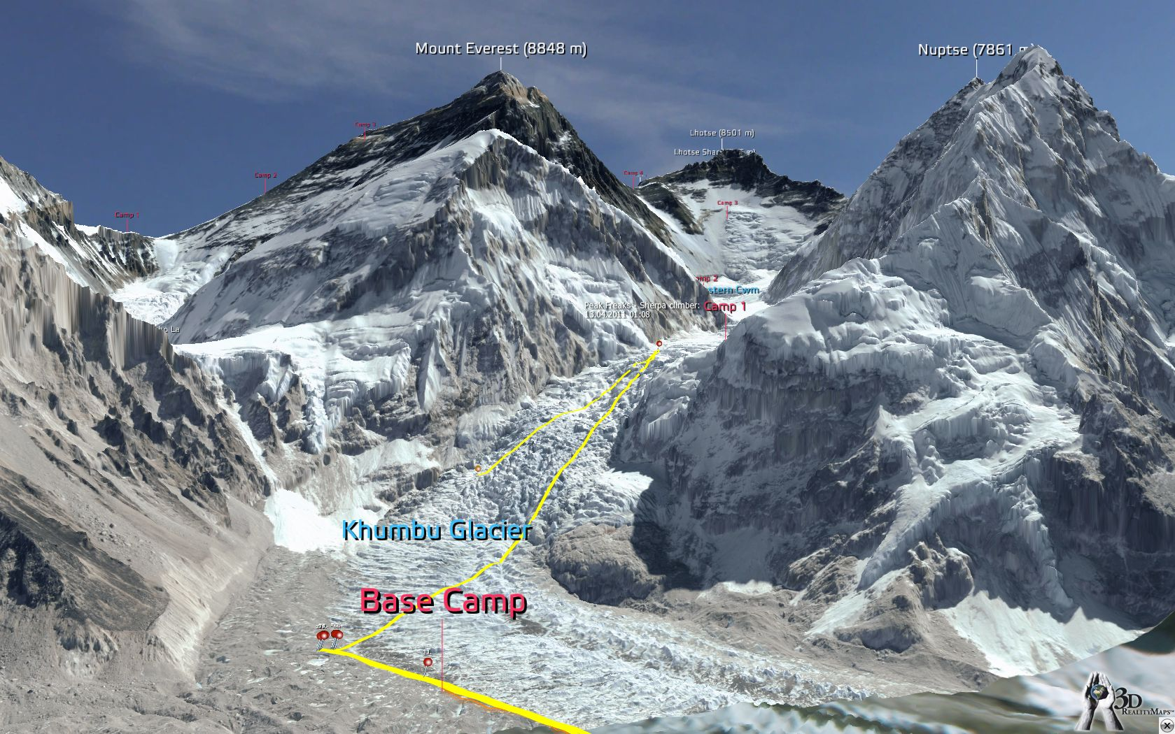 SummitClimb Link Exchange-3D RealityMaps - Everest 3D