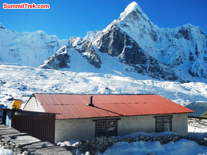 Chukkung village in snow. Photo by Sangeeta Sindhi