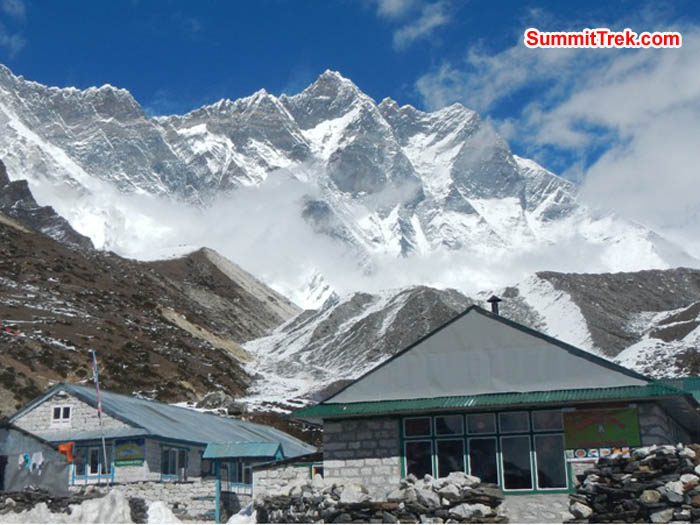 Chukkung village in the sunshine with Lhotse south face in background. Sangeeta Sindhi Photo