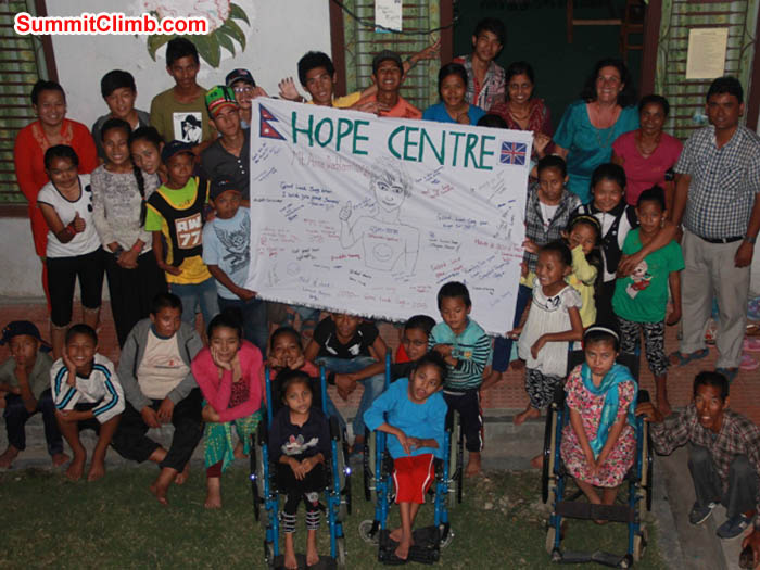 Ama Dablam expedition team member Saz supports Hope Centre, in aid of Nepalese children with disabilities. Sarabjit Bhooee Photo.JPG