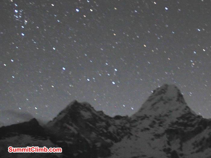 Ama Dablam on a starry night. Sarabjit Bhooee Photo