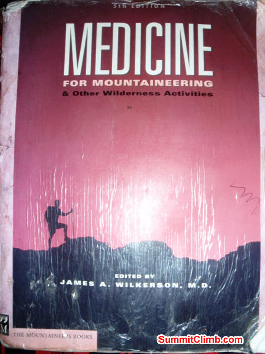 Essential text book for expedition medical kits. Photo James Barritt.