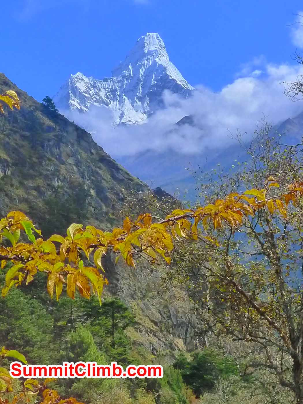 Amazing photo of Ama Dablam taken outside of Namche (Liam Suckling)