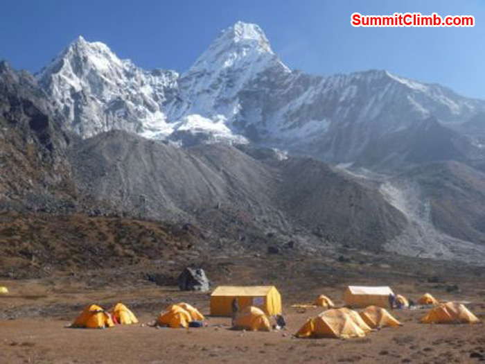 Our Comfortable Base Camp at 4650M, Amadablam