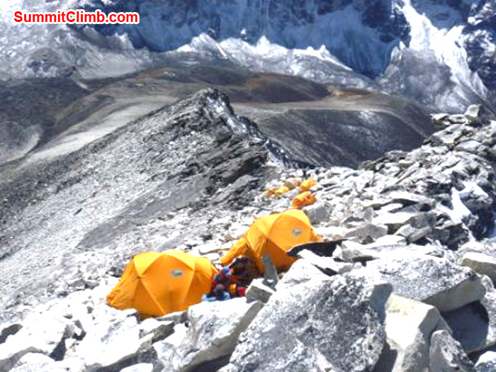Camp 1 at 5700m. Photo Arnold coster, AmaDablam