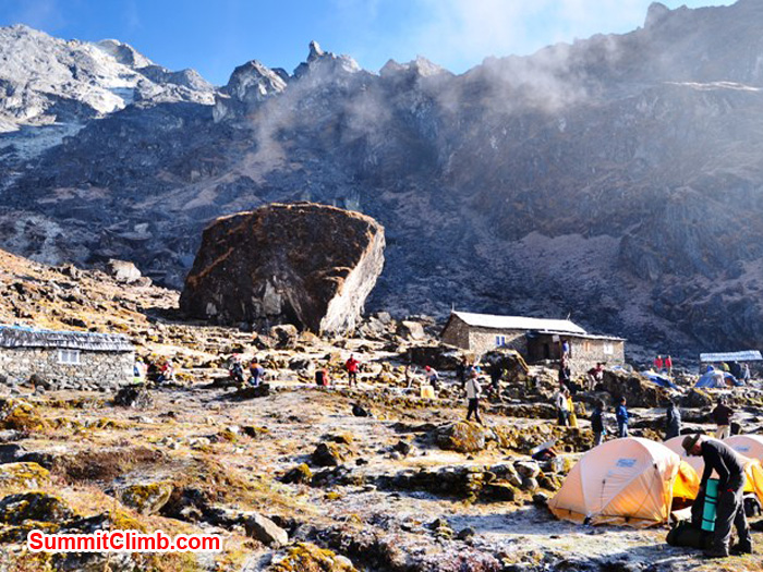 Chetra Village camp at 4150 metres, 13612 feet. Photo by Michael Moritz.JPG