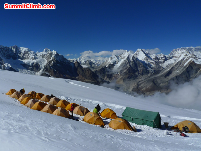 Our tents and dinning tents are in High camp. Photo Frank Seidel