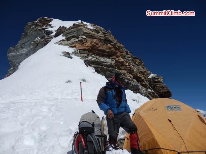 Karma Sherpa on the high camp. Photo Susanne.