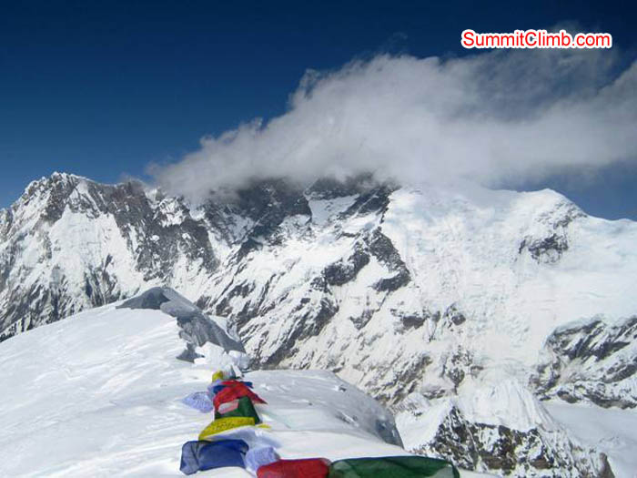 Everest Massif from Baruntse summit. Jussi Kuva Photo.