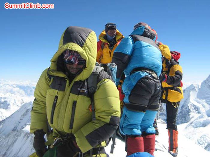 Team on the summit of Mera Peak. Jussi Kuva Photo.