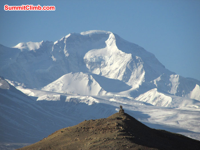 Nice looking Mt. Cho Oyu from Gamplung. Photo John & Debbie