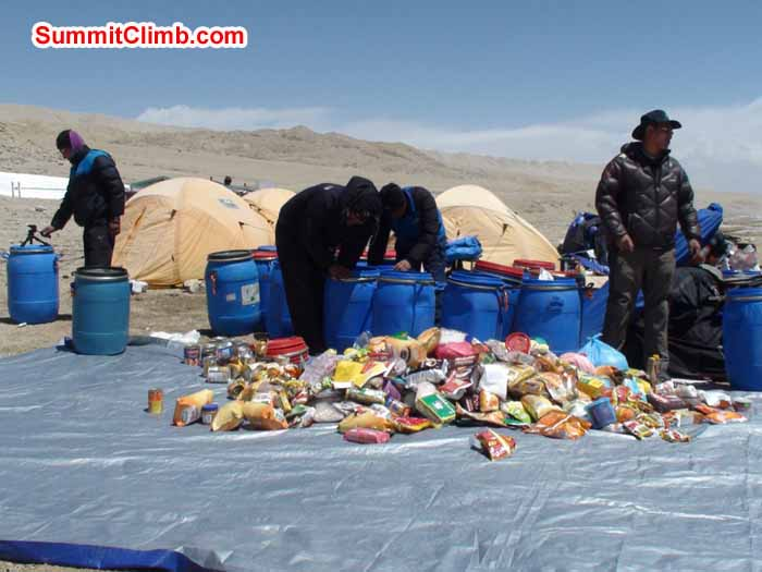 Packing in Basecamp