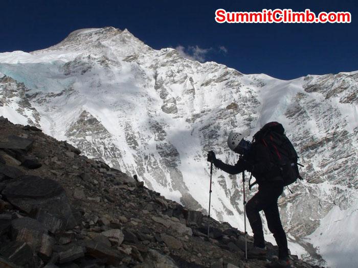 JanVirt Climbing to C1