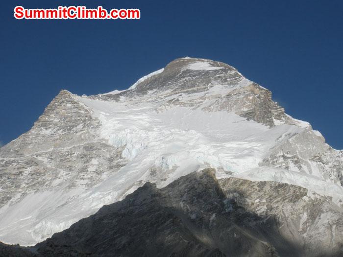 Cho Oyu mountain look beautiful photo taken from ABC. Photo Pemba Sherpa
