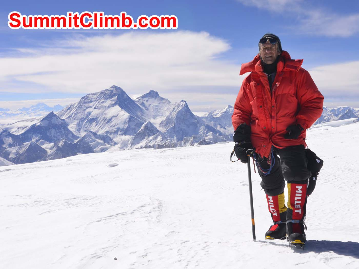 Dmitri on the summit 24 May. Pemba Sherpa Photo