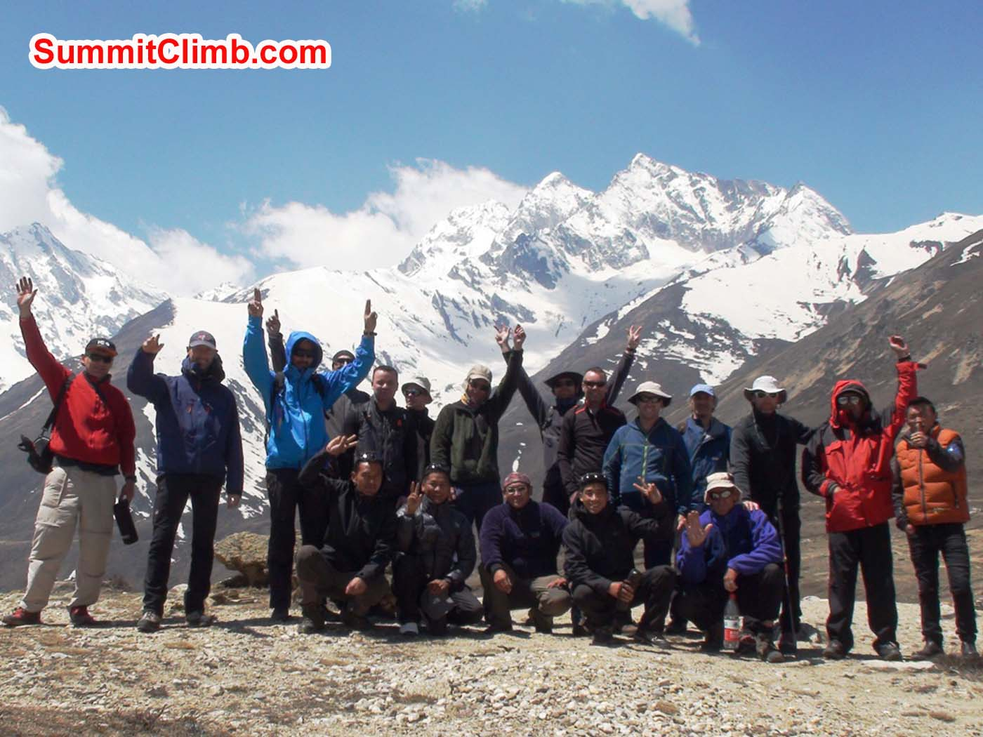 Cho Oyu team. Angel Armesto photo