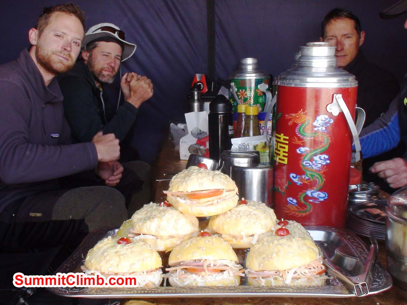 Delicious sandwiches made by our basecamp chef. Photo by Angel Armesto