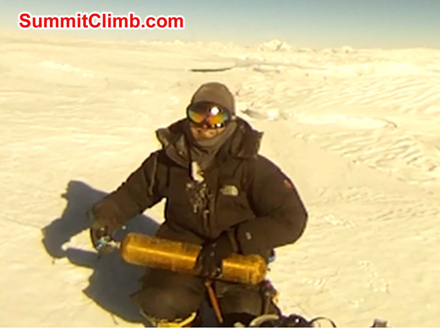 Anders on the summit of Cho Oyu. Photo Anders