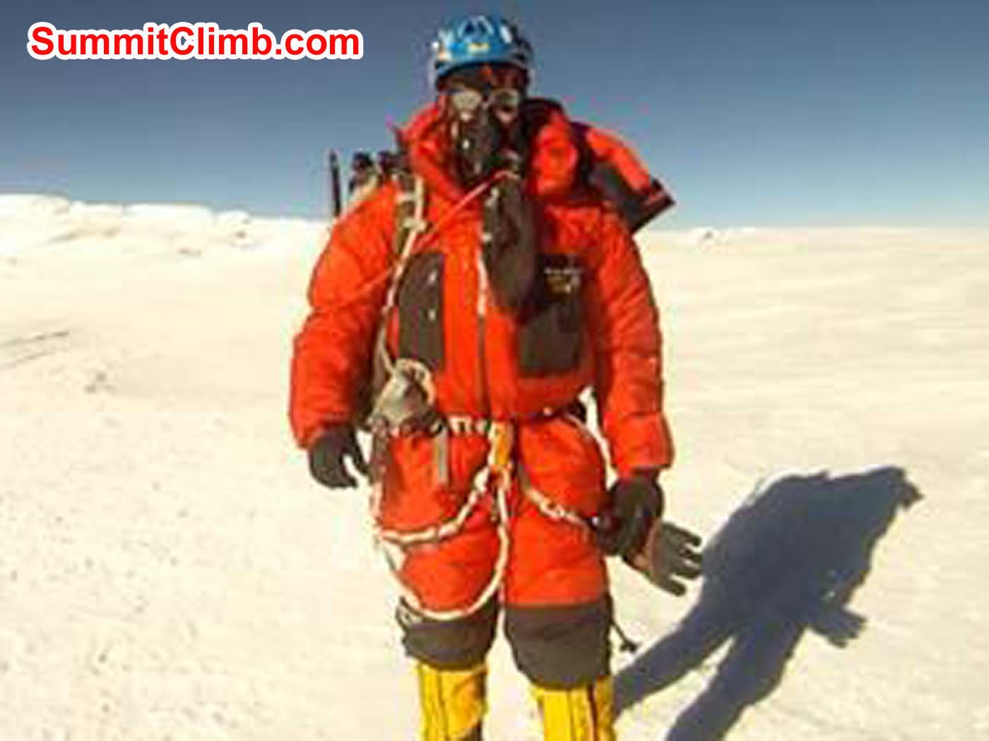 Anders Bergvall on the Summit of Cho Oyu. Jangbu Sherpa Photo