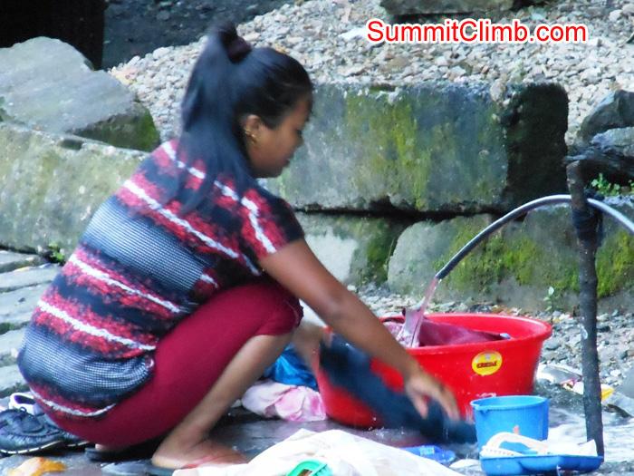 Washing clothing in Kodari villlage, on the Nepal Tibet border. Stu Frink Photo