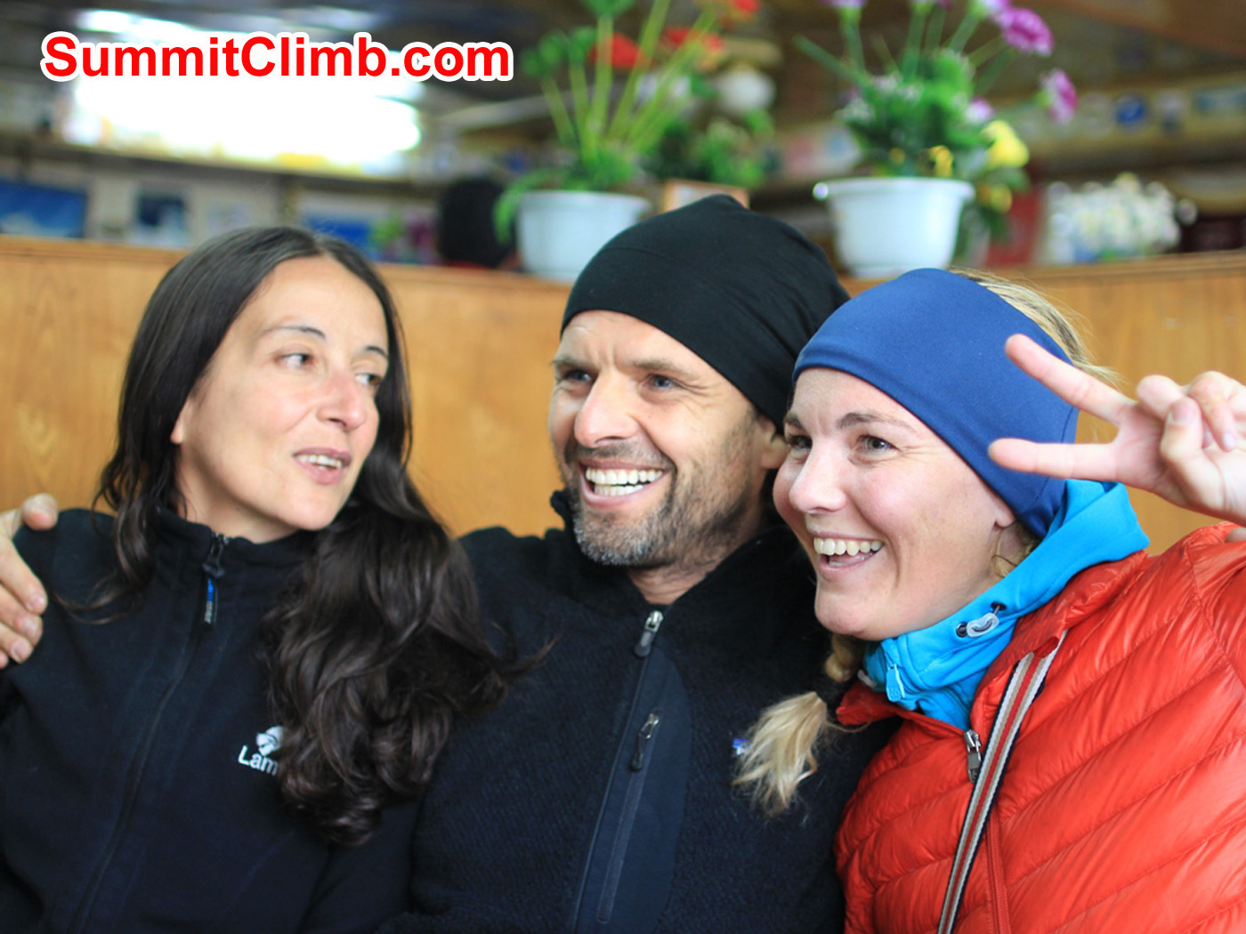 Marina, Christian, Villa, Cho Oyu Team Spirit. Christoph Forster Photo.