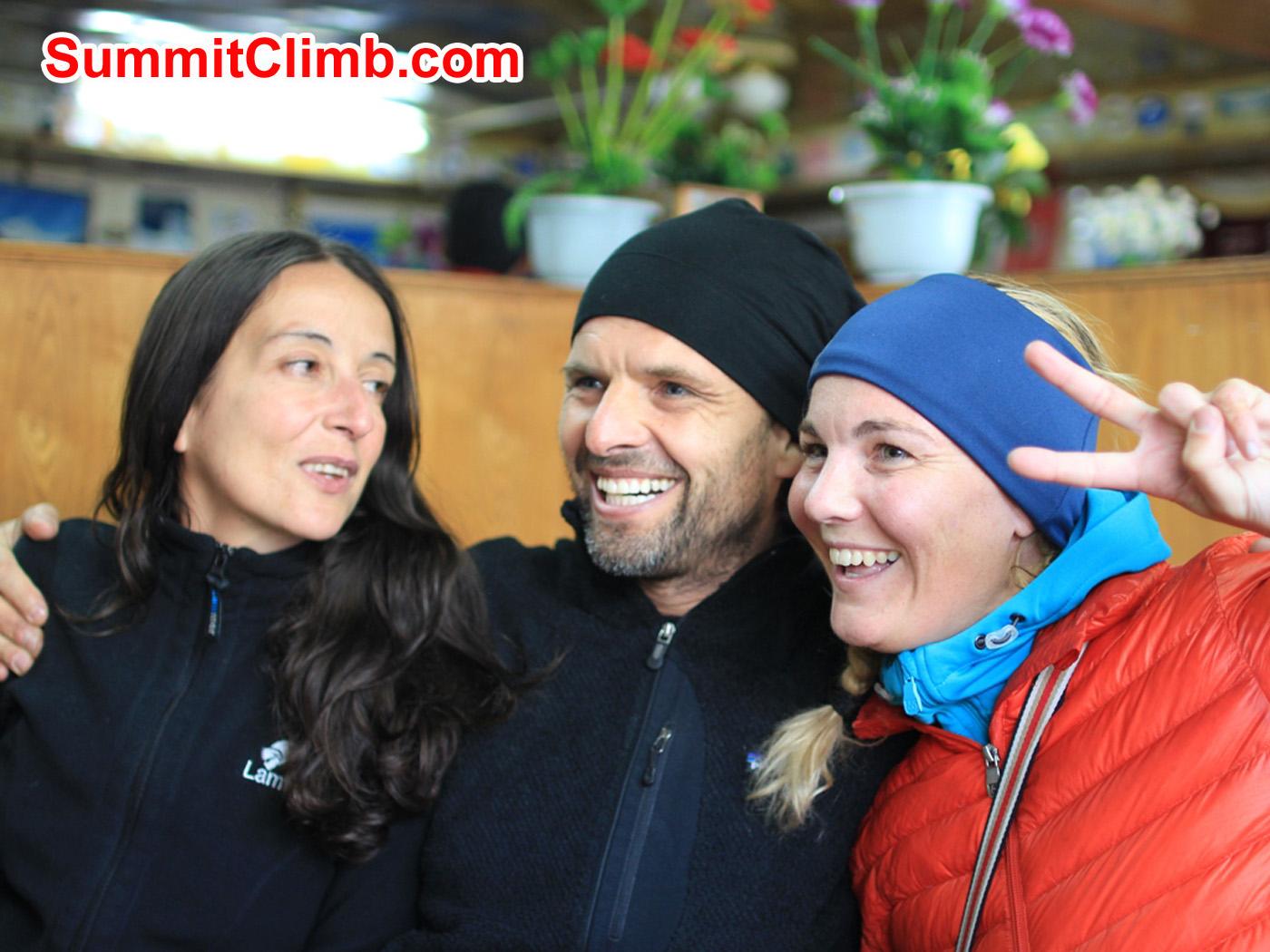 Marina, Christian, Villa, Cho Oyu Team Spirit. Christoph Forster Photo.
