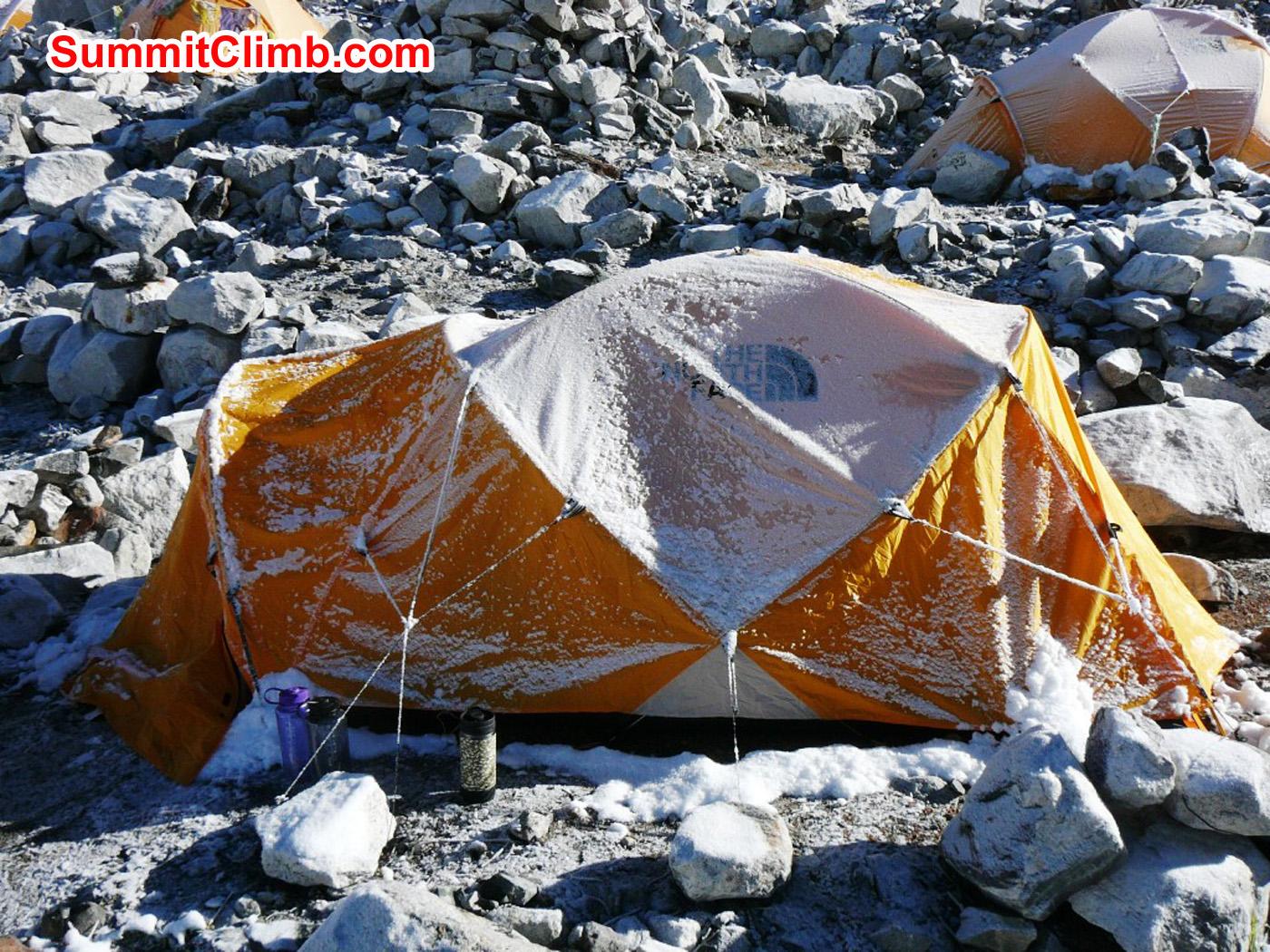 morgentliche Stimmung Zelt. Foto by Muendl