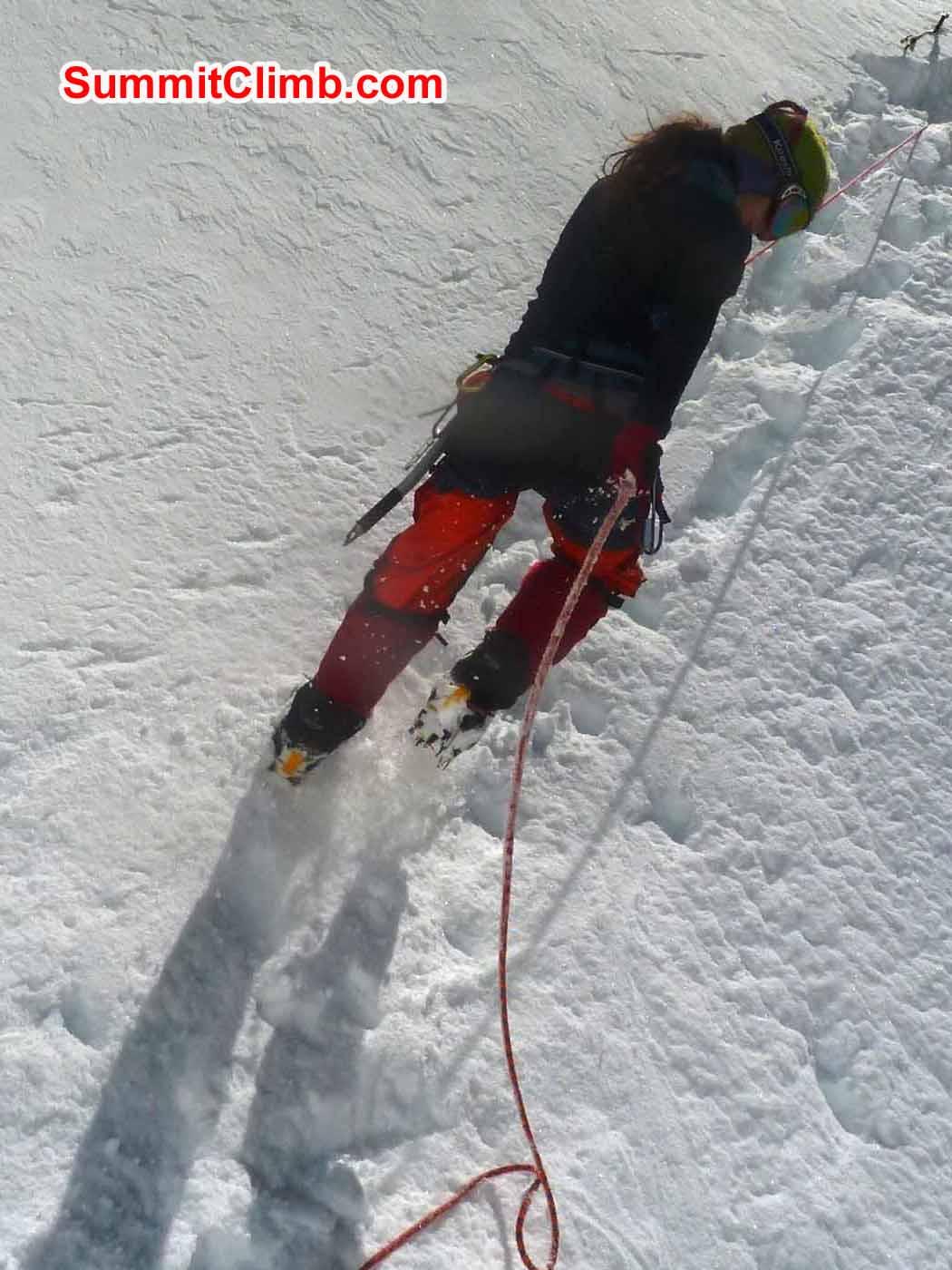 Marina Ice Training at ABC - Photo by Tsewang Sherpa