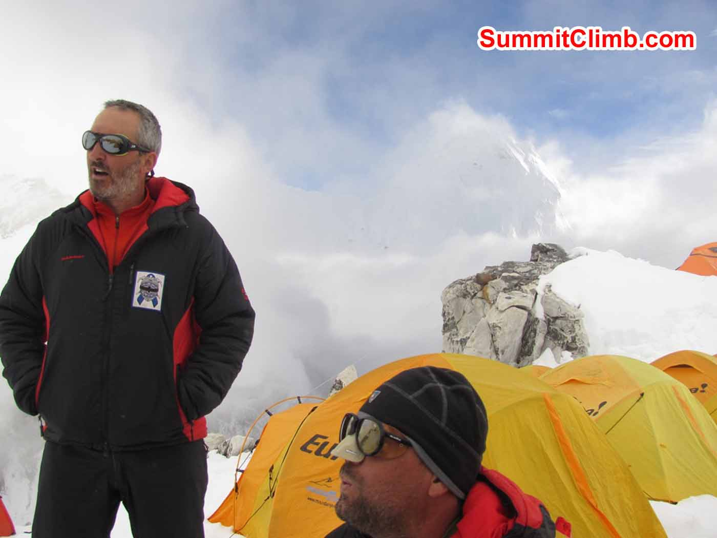 Stu Frink and Steve Janke at Camp 1 by Troy Bacon