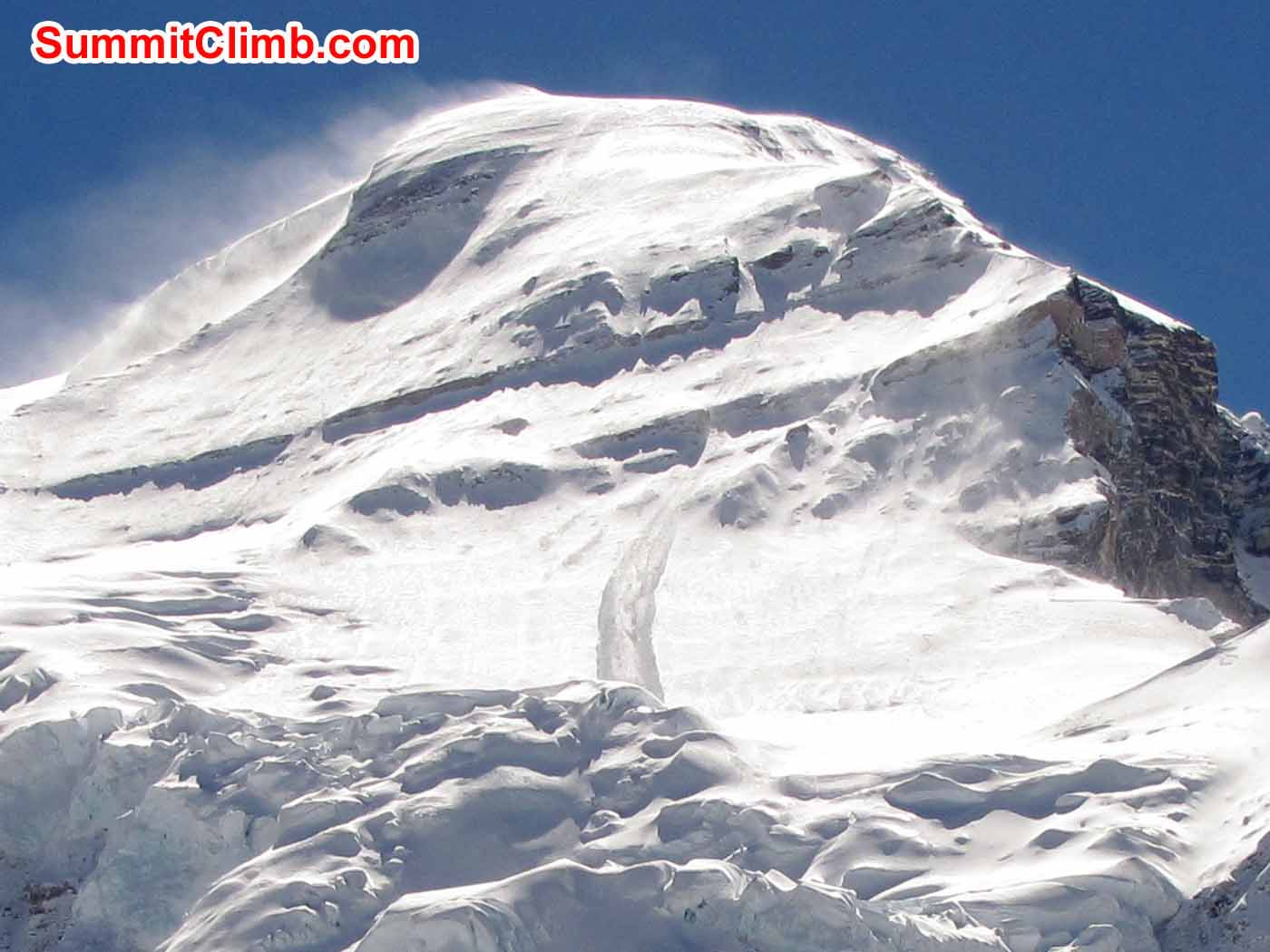 Cho Oyu News- A huge avalanche hit Camp 2 this morning. Is everyone ok. Troy Bacon Photo