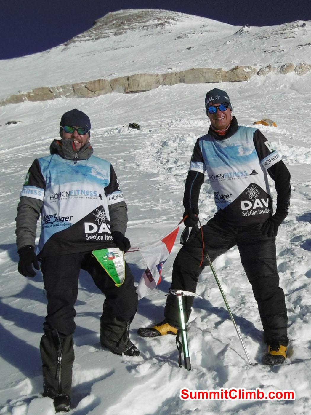 Stefan and Thomas, sponsored by Deutsche Alpine Vereinung. Tenji Sherpa Photo