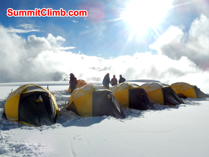 Camp two from Cho Oyu. Photo Erik
