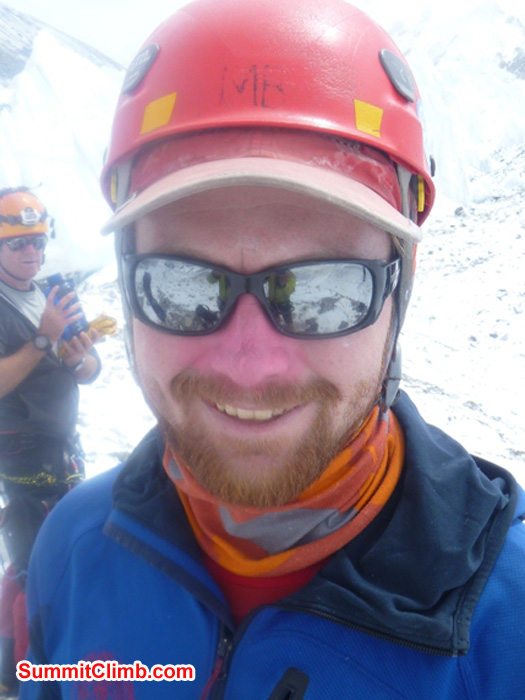 Matt Olsen, Outward Bound Instructor, shows off his pink zinc oxide. Photo by JJ