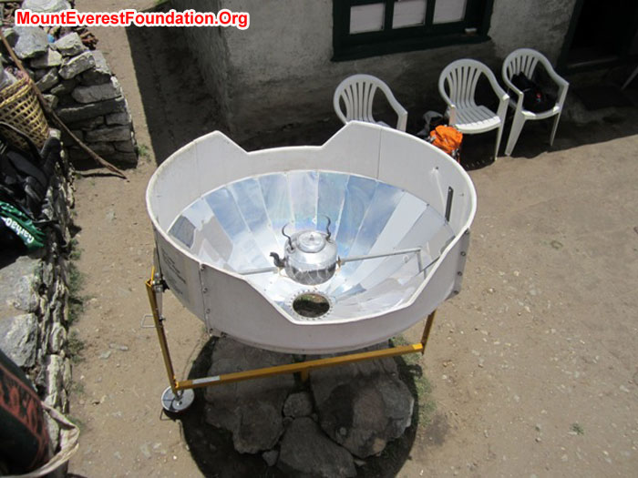 Solar powered tea pot