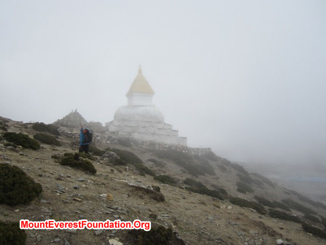 The Chorten at Dingboche