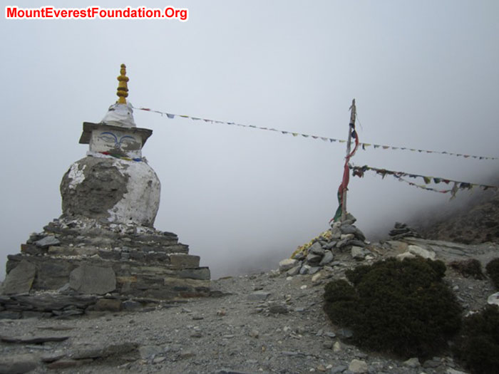 Chorten on the hillside