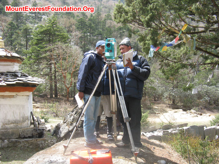 Recording & Surveying by team. Photo Murari Sharma