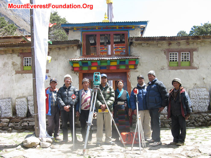 Team roster at Deboche Nunnery after project recoding and Surveying finish. Photo Murari Sharma