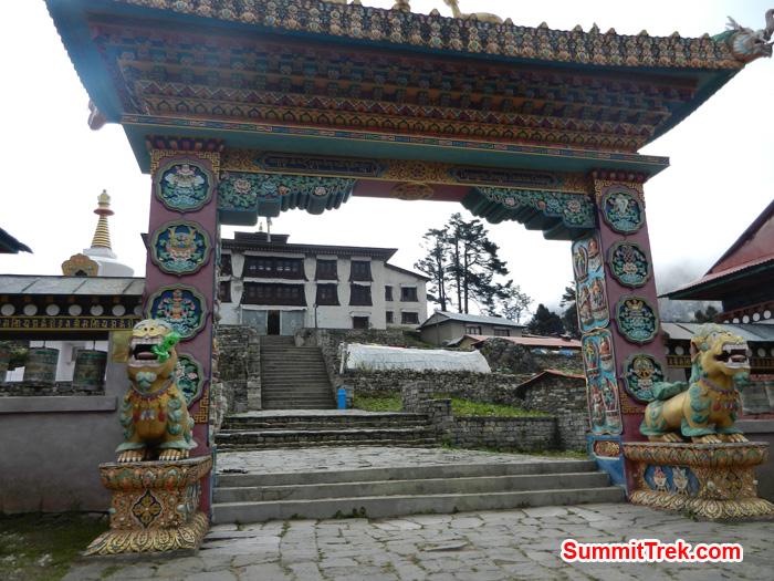 Tanboche Monastery main gate. Photo by Stephanie