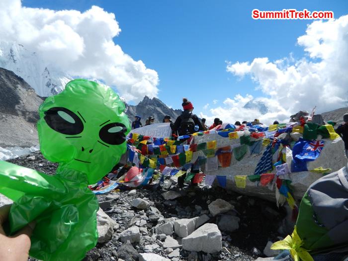 Stephanie Toy enjoying the Everest Base Camp. Photo by Stephanie