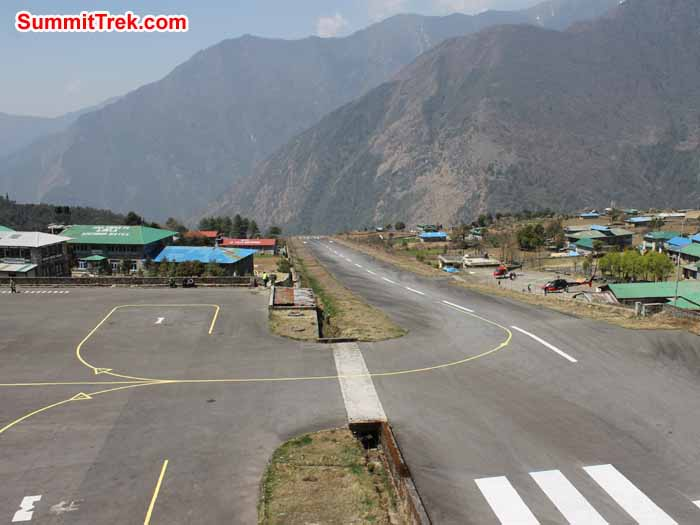 Lukla airport runway. Photo Scott Younghusband