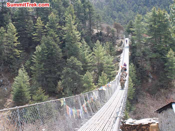 Long bridge near phakding. Photo Scot