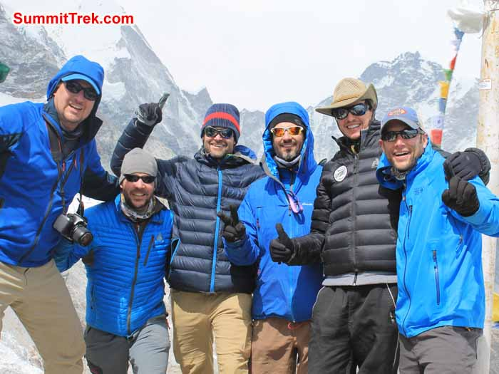 Team at Everest Basecamp.