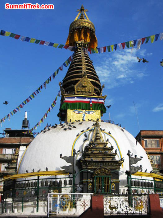 A large Stupa in Thahity square, Kathmandu. Photo by Keith Bailey