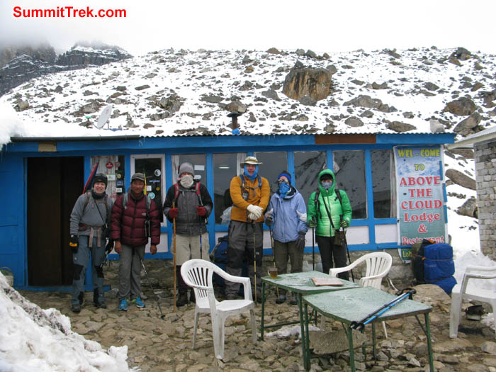 Team at Lobuche. Photo Keith Bailey