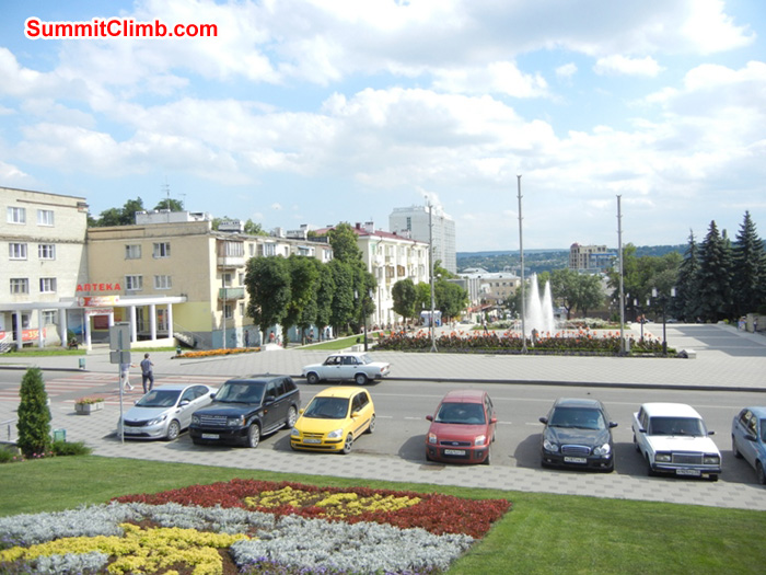 Park, shops and water fountains in Pyatigorsk, Russia. Photo Scott Patch
