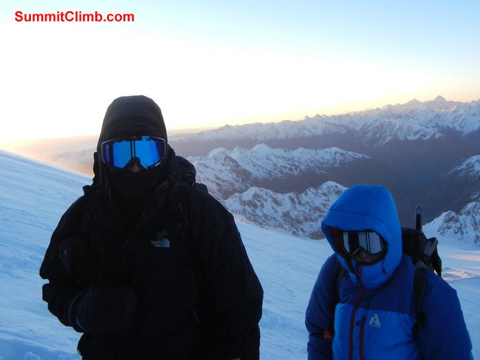 Dan and Ryan on summit push at dawn