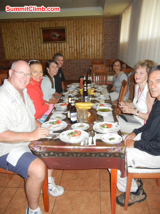 dinner in Azau