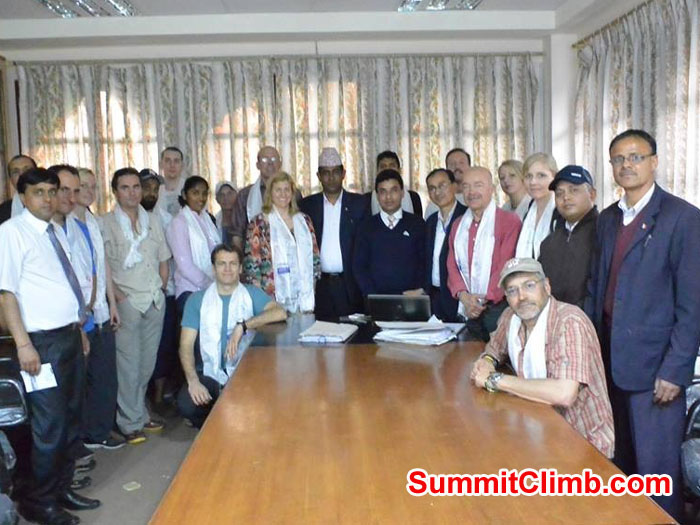 After the signing ceremony at the Ministry of Tourism, taken by Michael Fairman