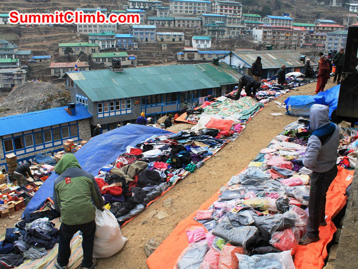 Namche Bazar Saturday Market. Photo by Iam Dumanski